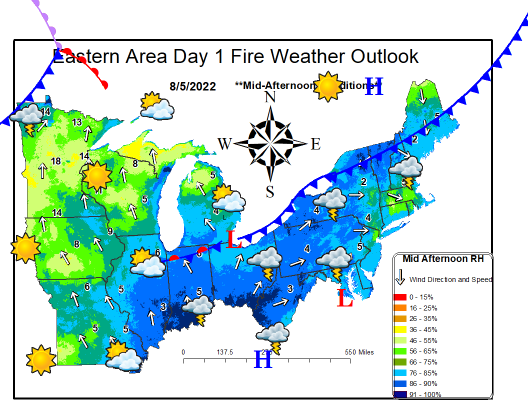 Eastern Area Day 1 Fire Weather Outlook