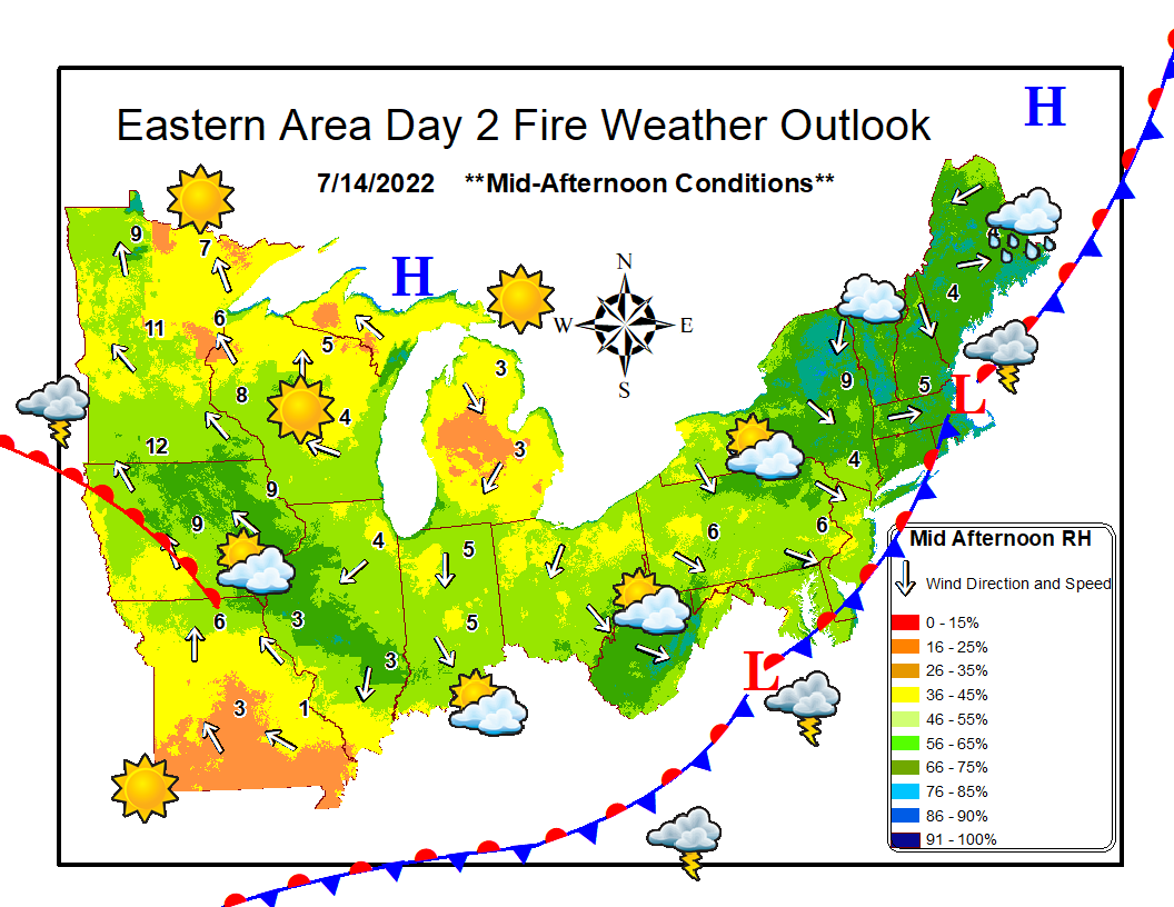 Eastern Area Day 2 Fire Weather Outlook