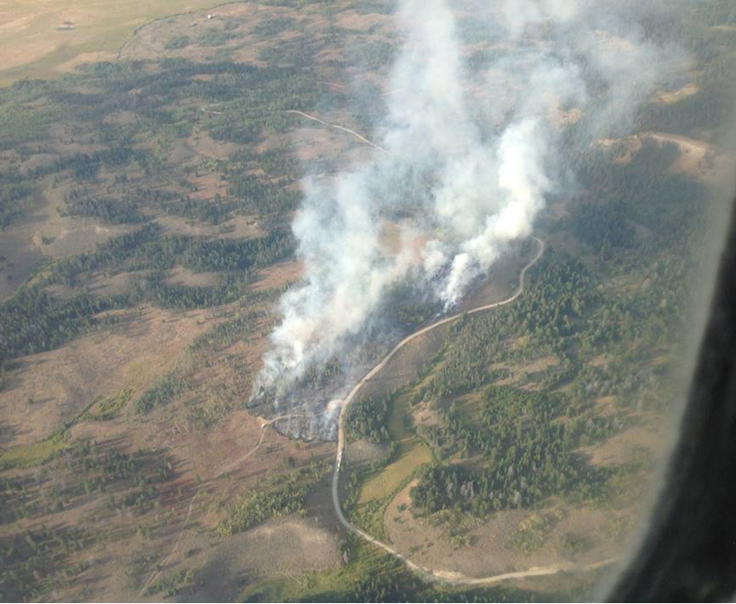 Aerial photo of the Buffalo Valley fire