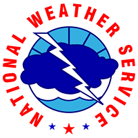 National Weather Service logo linked to the Riverton Wyoming website.