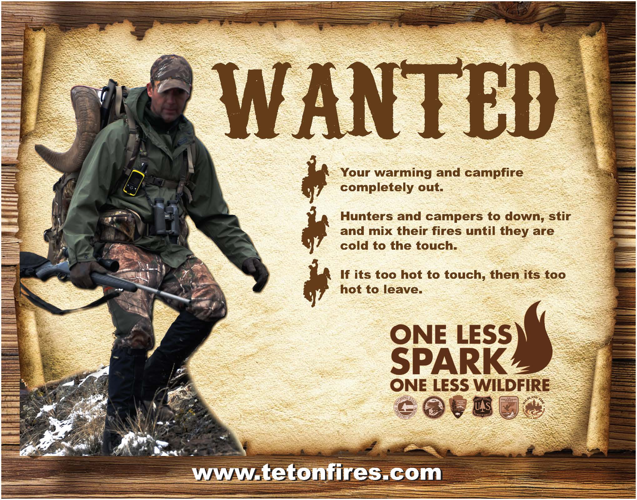 Wanted: Extinguish warming fires poster, too cold to touch, too cold to leave.