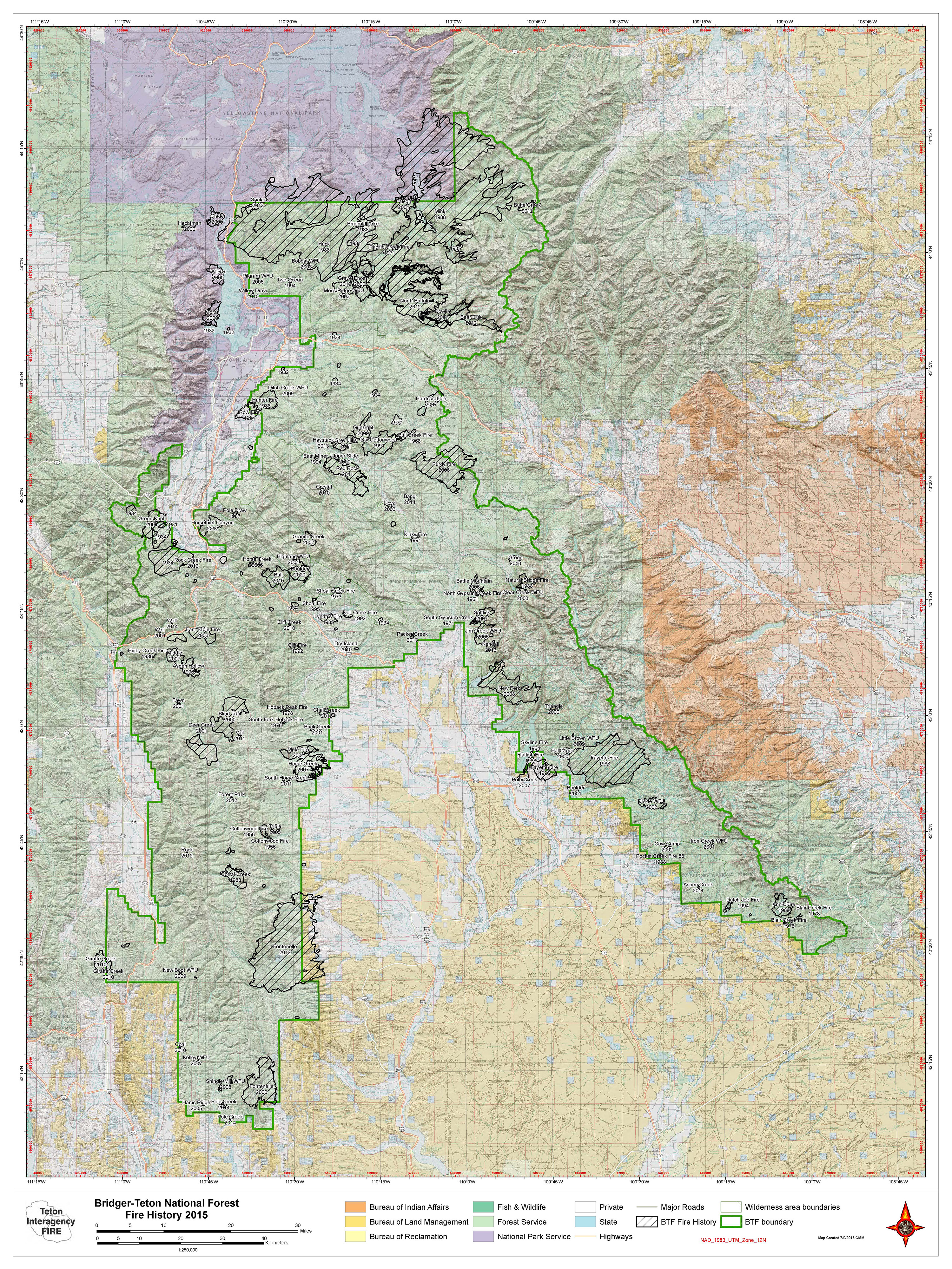 Wildland Fires Teton Interagency Fire Dispatch Center - Us national forest fire map