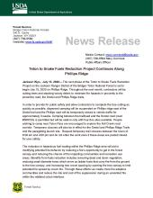 Teton to Snake Fuels Reduction Project Continues Along Phillips Ridge