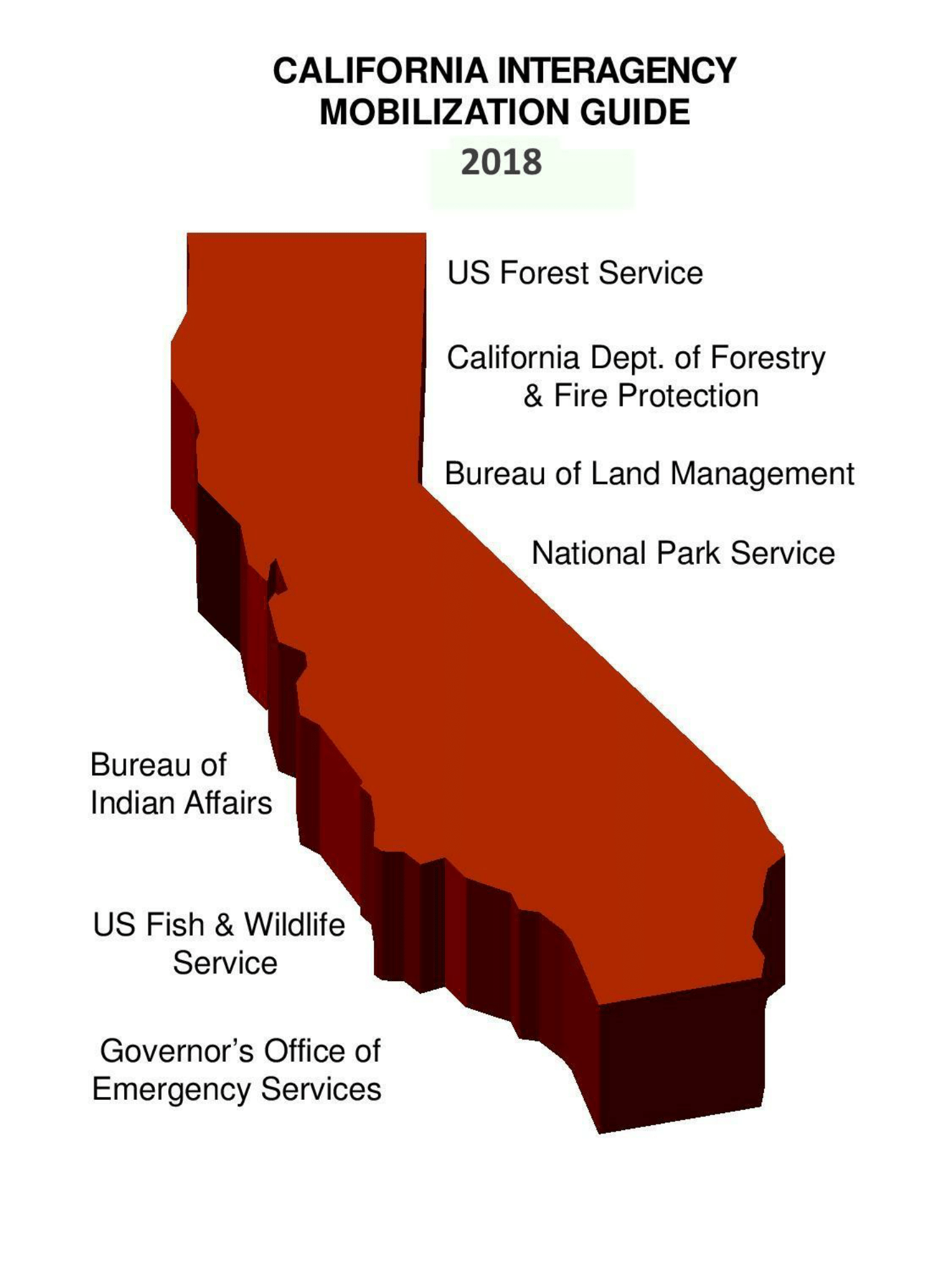 california map with agencies listed