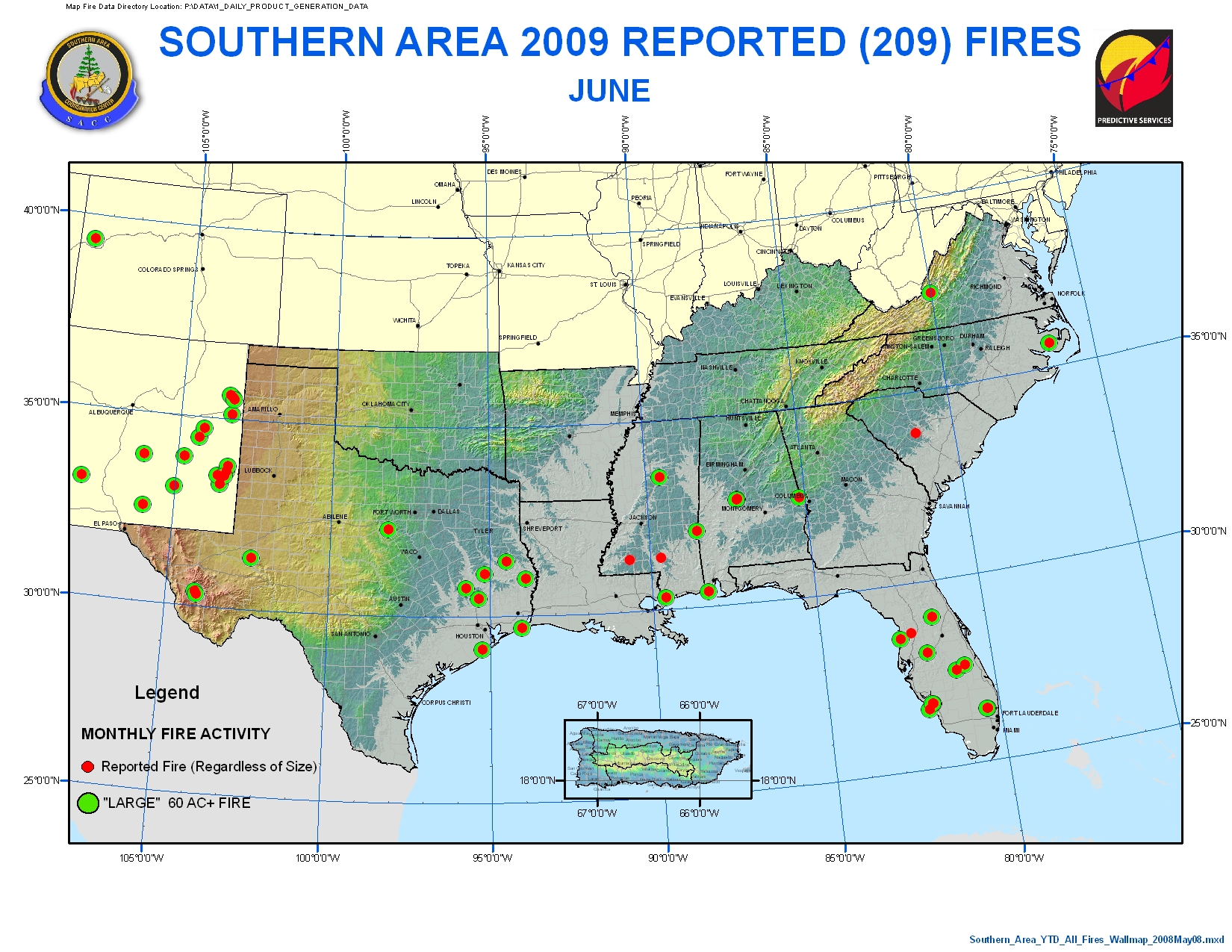 Southern Area Coordination Center - USA States Map Collections on