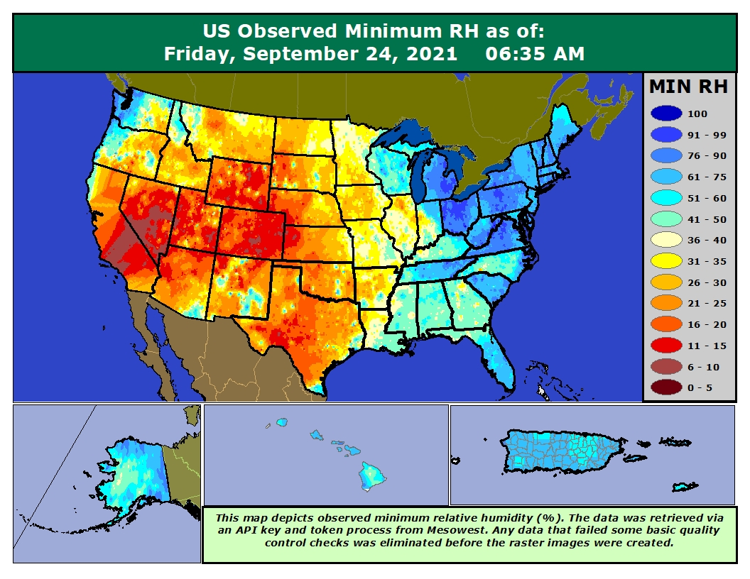 Click Here For The Observed Us Minimum Rh Map