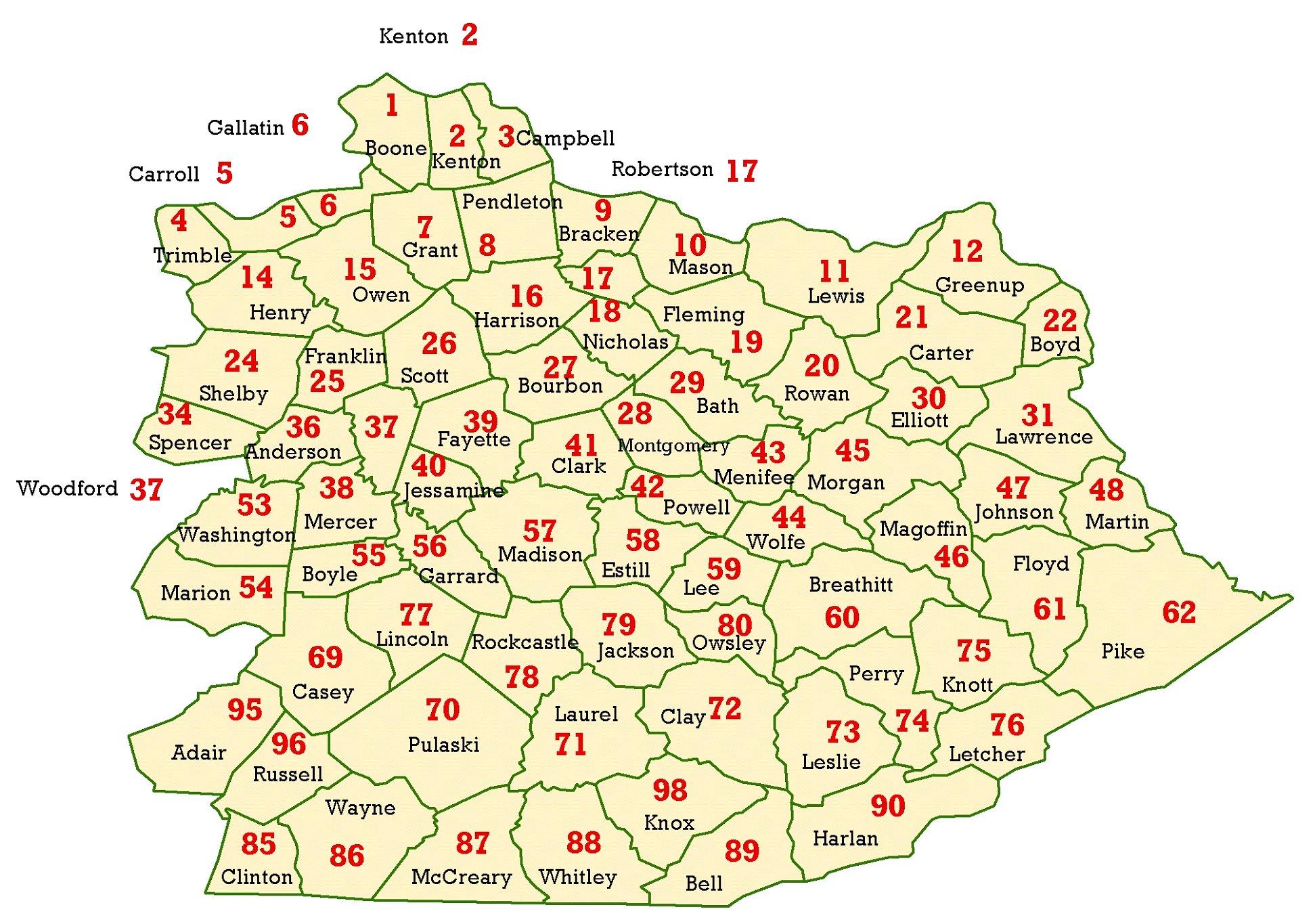 Map Of Eastern Kentucky MAP - Map kentucky cities