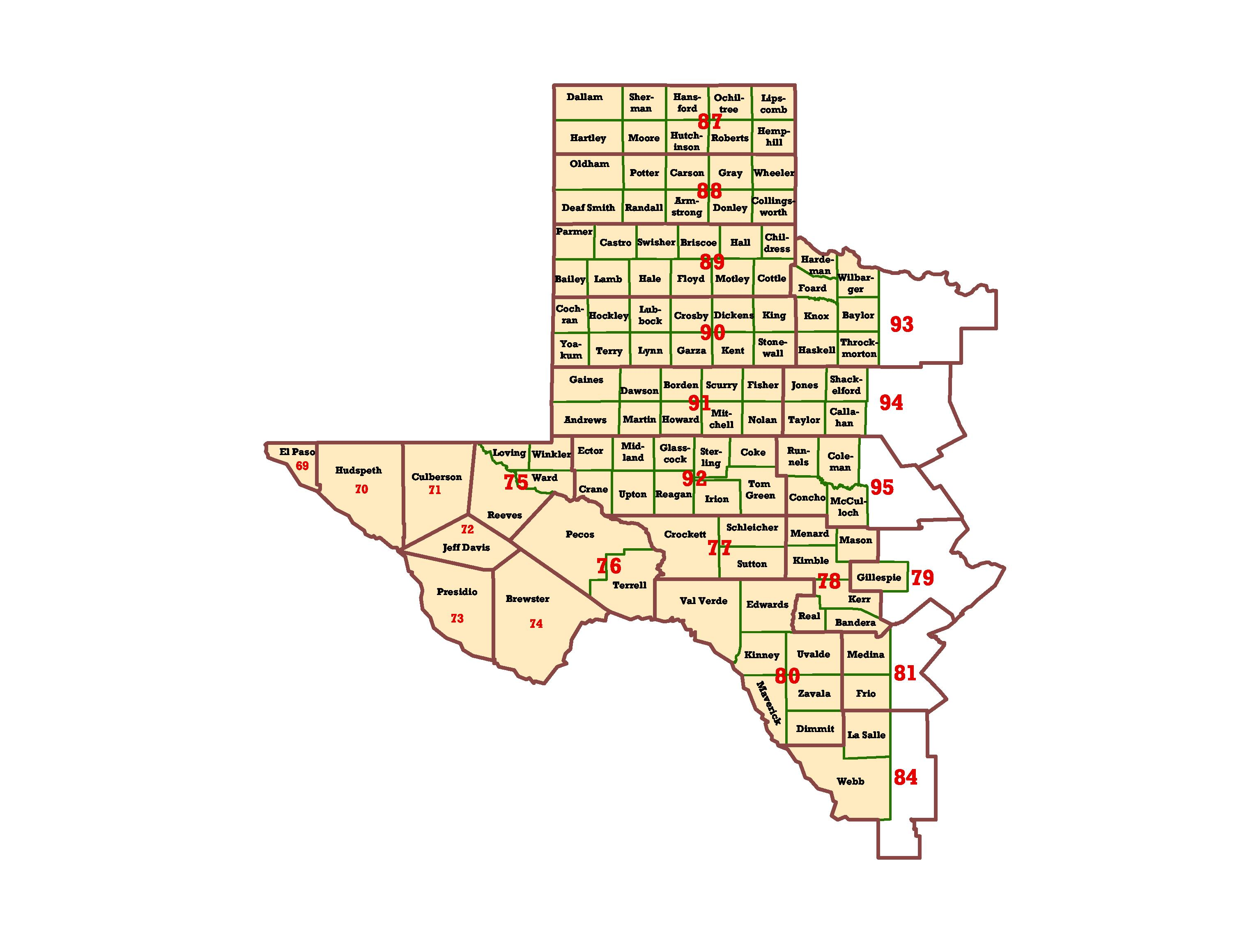 West Texas County Map My Blog - Texas county map with cities