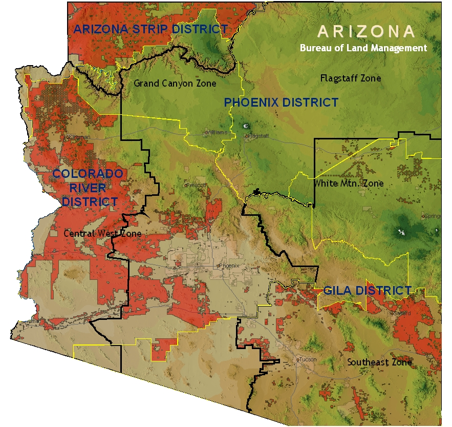 Amazing Arizona Blm Map Pictures - Printable Map - New ...