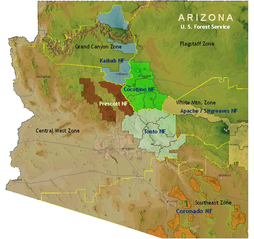 Southwest Coordination Center Swcc - Map-of-us-forests