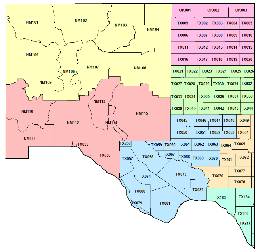 Arizona New Mexico West Texas